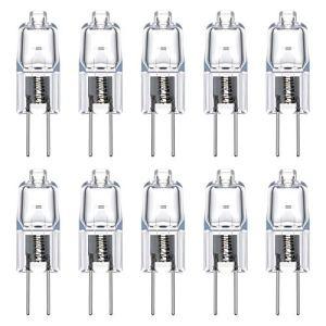 Vicloon G4 Lampadine Luce G4 Lampada Alogena 20W Luce Calda DCAC 12V G4 Presa Lampadine Confezione da 10 Classe di efficienza energetica C