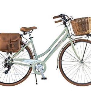 Canellini Via Veneto By Bicicletta Bici Citybike CTB Donna Vintage Retro Dolce Vita Alluminio Verde C 46