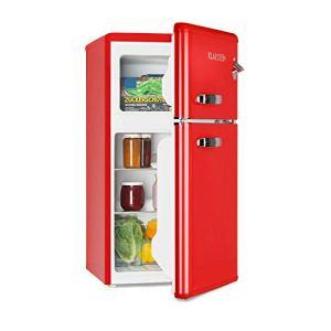 KLARSTEIN Irene  Combinazione FrigoCongelatore Frigorifero Retro Scomparto Freezer 61 L Congelatore 24 L Rumorosit 40 dB 2 Ripiani 2 Ripiani Porta Rosso