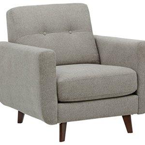 Marchio Amazon Rivet sedia trapuntata modello Sloane stile midcentury moderno colore pietra