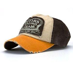Amison Cool Nuovo Unisex Baseball Tappo Cotone Moto Tappo Bordo Rettifica Vintage Cappello A
