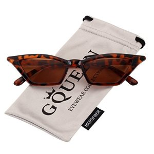 GQUEEN Occhiali da Sole a Gatto Protezione UV Occhiali da Sole Kurt CobainGQS8