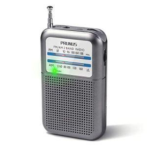 PRUNUS DEGENDE333 Portatile Mini transistor Radio FMAMMW tascabile eccellente ricezione Manopola di Sintonizzazione con lIndicatore di segnale Supporta batterie sostituibili AAA