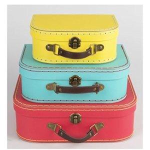 Sass  Belle Brights Set of 3 Retro Suitcases Edizione Regno Unito
