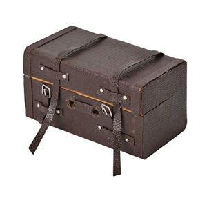 112 Casa delle Bambole Valigia Vintage PU Pelle Simulazione Suitcase Modello Artigianato Miniatura Puntelli Scena Miniatura Puntelli Scena Fingere Giocare Giocattoli Regalo Giocattolo Cognitivo