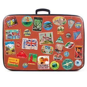31x Adesivi per Bagagli Le valigie Etichette di Viaggio dEpoca Decalcomanie di Vinile in Stile Vintage