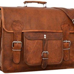 Borsa a tracolla Gusti LederLeon borsa ventiquattrore Borsa per laptop in vera pelle marrone