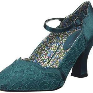 Joe Browns Montrose Vintage Lace Shoes Scarpa Mary Jane Donna Smeraldo 38 EU