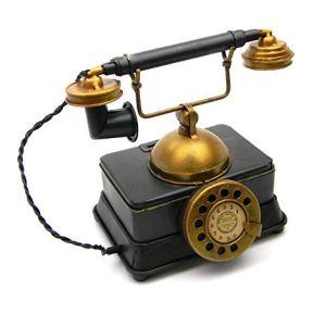 Salvadanaio per telefono vintage dipinto a mano stile vintage larghezza circa 200 mm