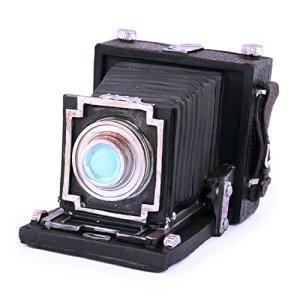 Pajoma 55170 Salvadanaio a Forma di Macchina Fotografica in Resina Sintetica Altezza 10 cm Nero Schwarz