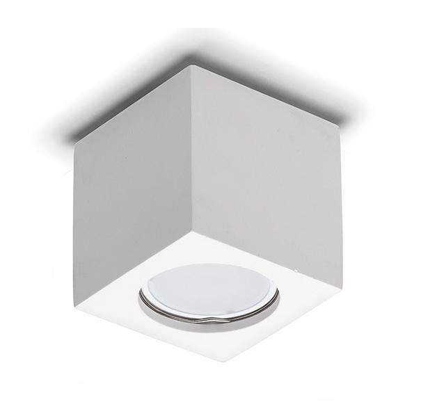 8899 PLAFONIERA IN GESSO PER LAMPADINE LED GU10
