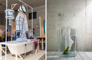 MA Material features 2017 (l) (photo by Claudio Grassi) and Melanie Glöckler's 'Marine Cotton' for Burg Giebichenstein (r) (photo by Melanie Glöckler)