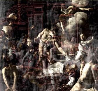 Martirio San Matteo Cappella Contarelli Morphing