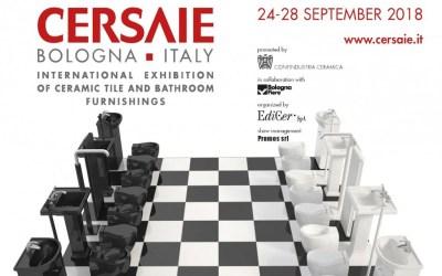 Cersaie 2018: dal 24 al 28 settembre al via il Salone Internazionale della Ceramica per l'architettura e dell'arredo bagno.