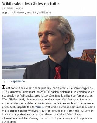 Ecrans - wikileaks