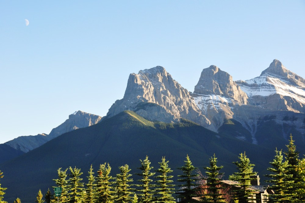 Views of the Rockies from Canmore, AB