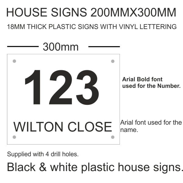 plastic house signs