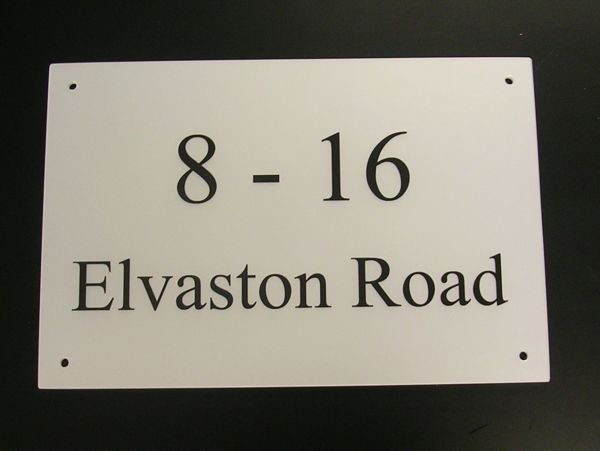 stainless steel house signs