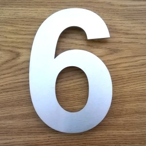 150mm high stainless steel house numbers