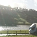 """img src=""""Arrow-Courier-Services-Truck-countryside-river.jpg"""" alt=""""Arrow Courier Services Mercedes Atego by a river in the Countryside"""""""