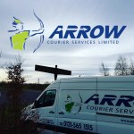 "img src=""Arrow-Couriers-Angel-of-the-North-logo.jpg"" alt=""Arrow couriers crafter with angel of the north in the background and Arrow Logo Above"""