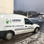 "img src="" IMG-20180228-WA0009.jpg"" alt=""Arrow Courier Services Small Van at Lords CC in the snow"""