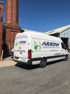 "img src=""Arrow-Couriers-Crafter-Arrow-9-under-comms-chimney-closer-up.jpg"" alt=""Arrow Courier Services VW Crafter under a communications tower/chimney close up"""