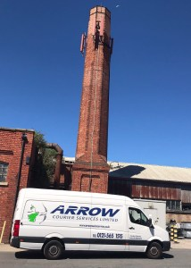 "img src=""Arrow-Couriers-Crafter-Arrow-9-under-comms-chimney-side-view.jpg"" alt=""Arrow Courier Services VW Crafter under a communications tower/chimney side view"""