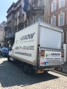 "img src=""Arrow-Couriers-Luton-delivering-to-the-Bristol-Marriott-Royal-Hotel.jpg"" alt=""Arrow Couriers making a delivery to the Bristol Marriott Royal Hotel"""