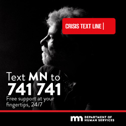 Text MN to 741741