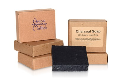 85% Organic Vegan Charcoal Soap