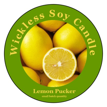 Lemon Pucker Wickless Soy Candle