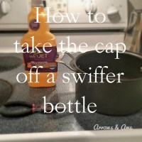 How to remove the cap off a Swiffer Wet Jet bottle