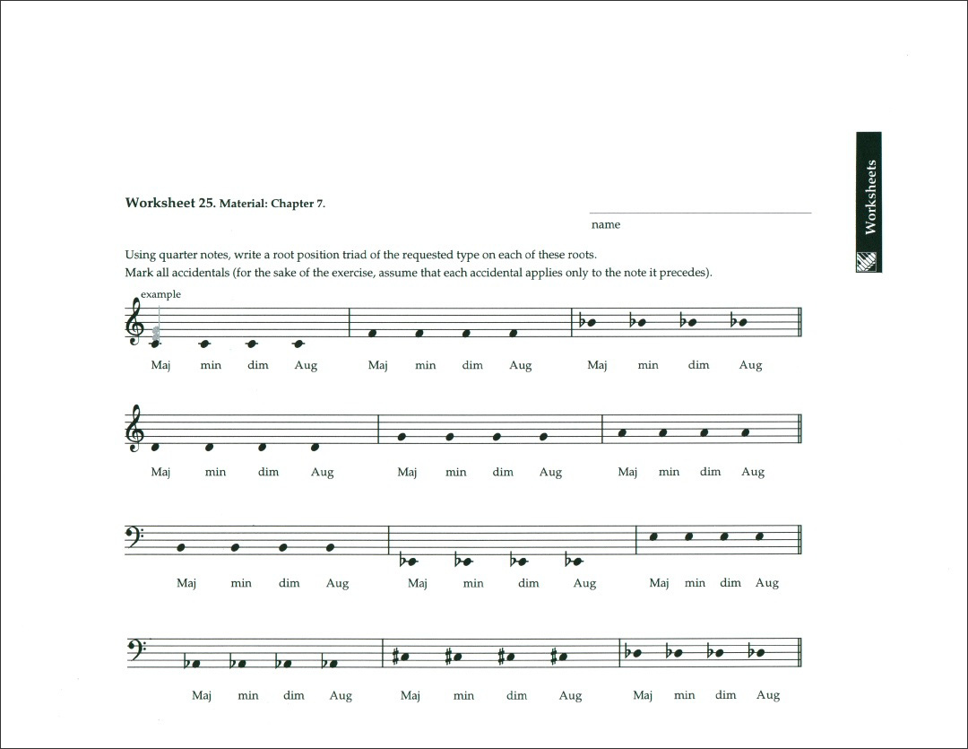 Worksheet Key