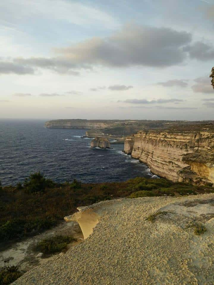 View of Azure Window remains (Gozo)