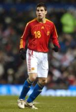 Fabregas playing for Spain