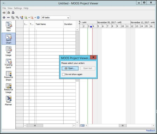 Microsoft Project Viewer