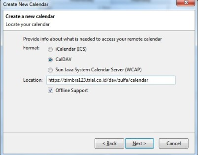 Konfigurasi Kalender Zimbra di Thunderbird dengan Lightning