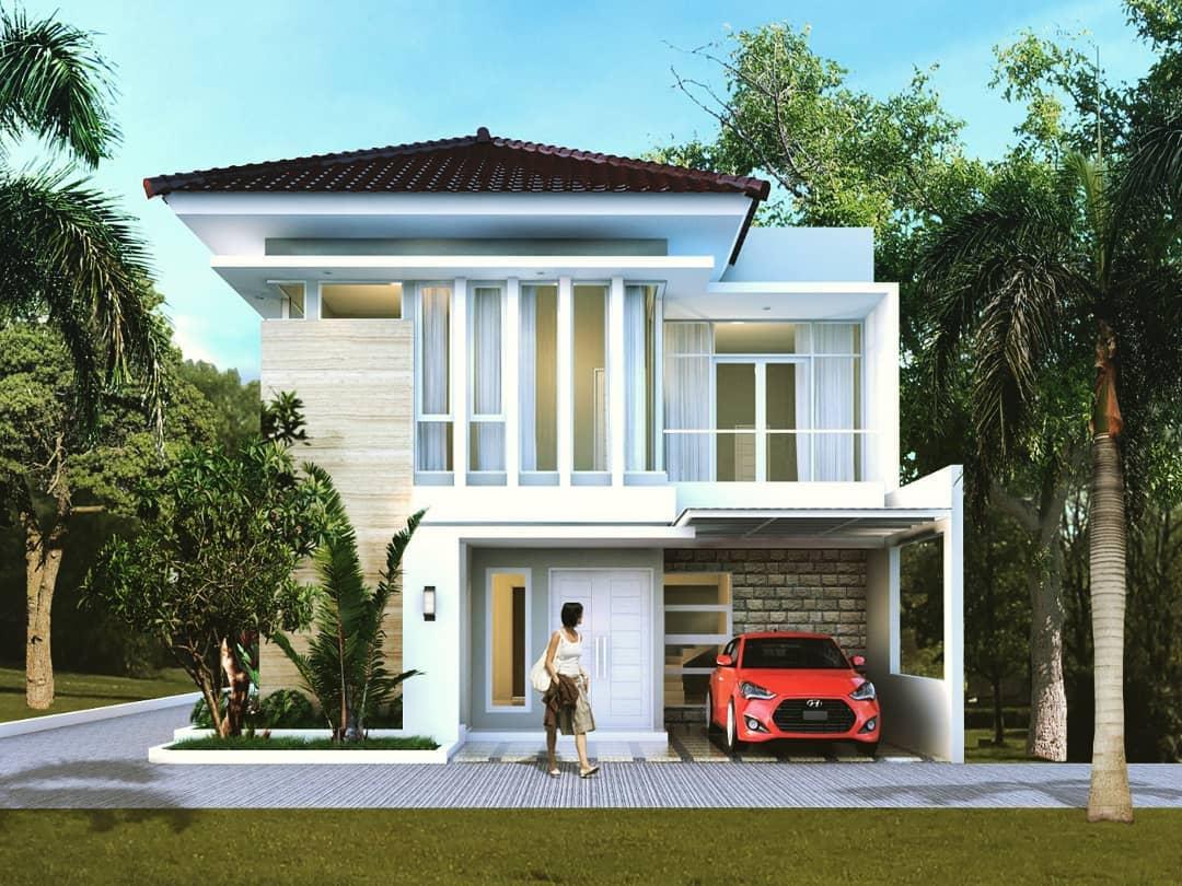 Desain Rumah 2 lantai hook bapak ardi depok