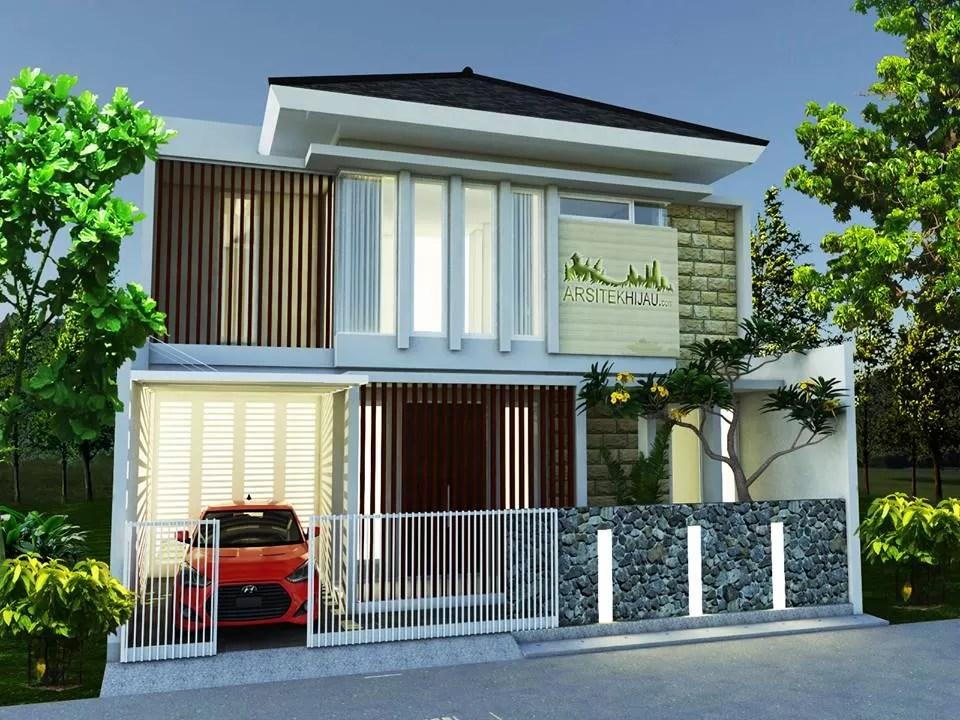 desain rumah minimalis batu alam