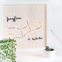 Beleuchtetes DIY Sternzeichen Bild