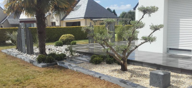 Terrasse Et Jardin Contemporain PLUMELIN Arstl