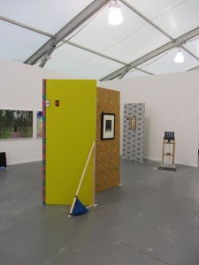 View of Seventeen at Frieze New York. Foreground: David Ramond Conroy, Broadway flats, 2013.