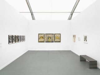View Ivan Gallery, Bucharest at Frieze New York, 2015, with work by Geta Brătescu.