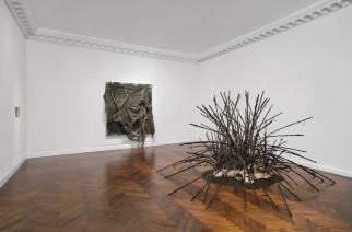 (Left) David Hammons, Untitled, 2008–2014. (Right) David Hammons, Untitled, 1992.