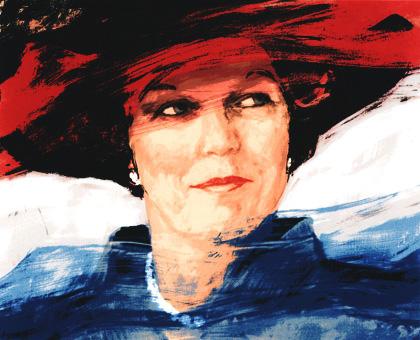 Koningin Beatrix (zeefdruk door Carla Rodenberg)