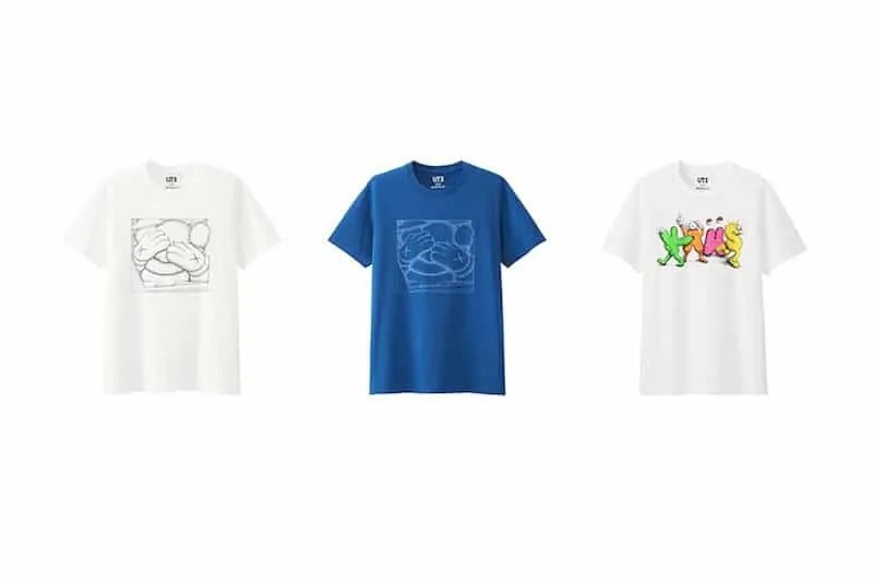kaws shirts collaboration with uniqlo