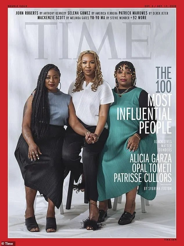 three founders of the Black Lives Matter movement on the cover of Time magazine