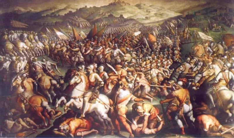 Giorgio Vasari's 1563 painting The Battle of Marciano