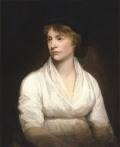 Portrait of Mary Wollstonecraft painted by John Opie in 1797.